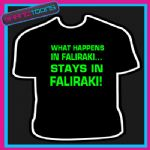 WHAT HAPPENS IN FALIRAKI LADS HOLIDAY STAG TSHIRT